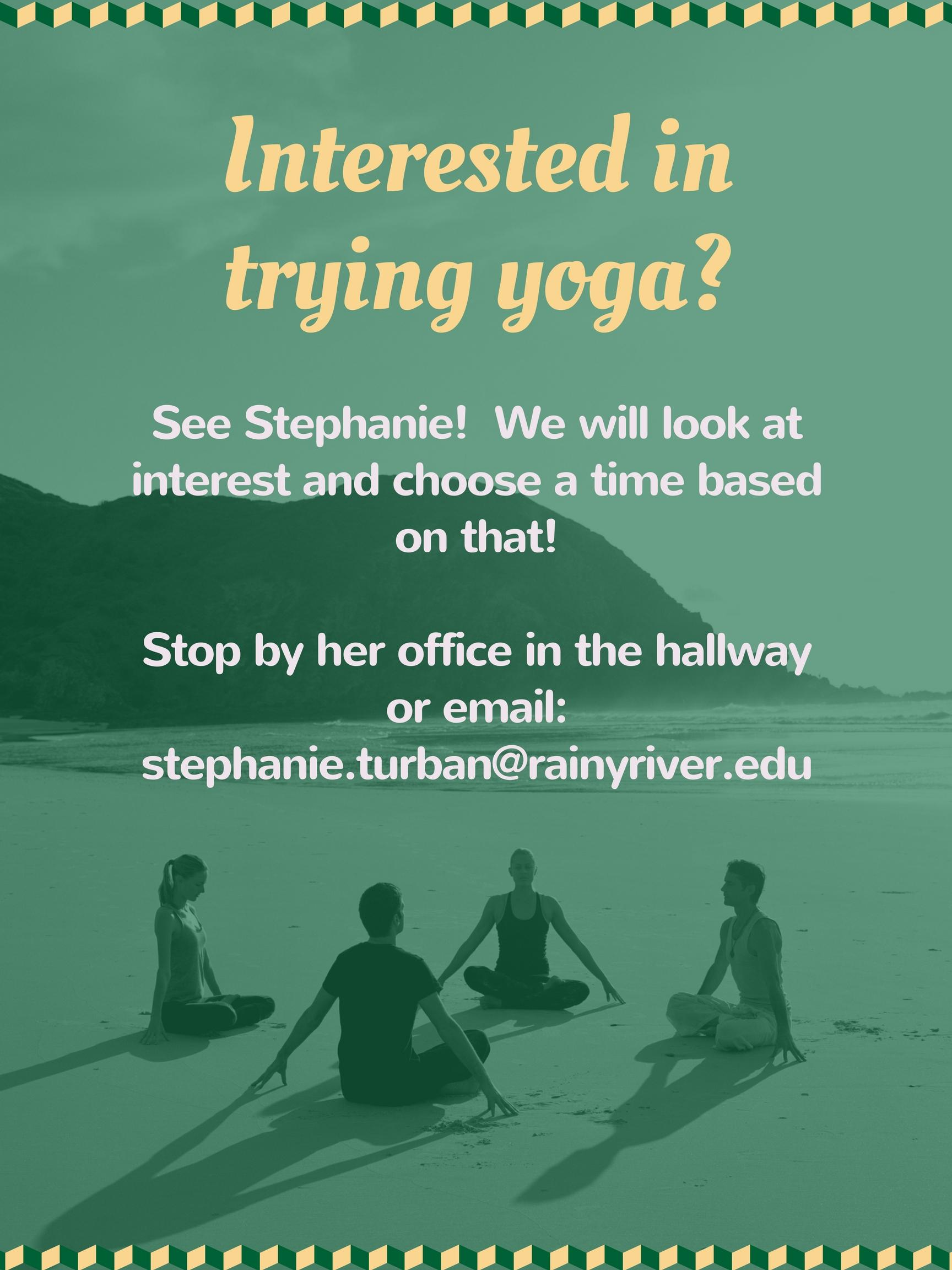 Interested in yoga?