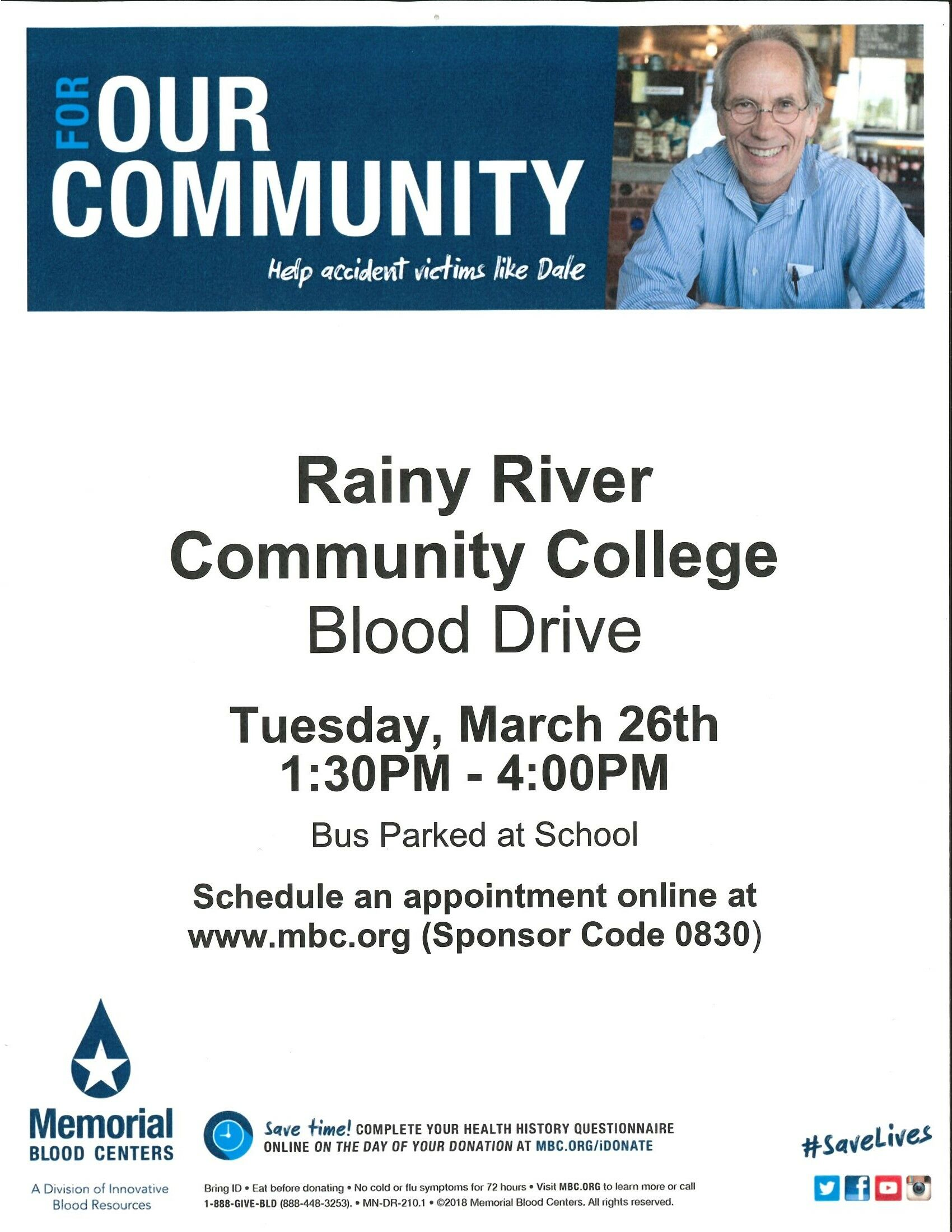 Rainy River Community College Blood Drive